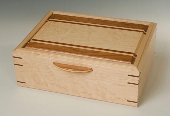 Birdseye Maple Jewelry Box with Bubinga Accents