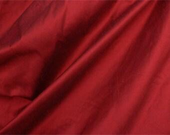 Cranberry Faux Dupioni Silk Fabric