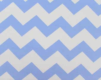 Mini Light Blue Chevron Fabric 701