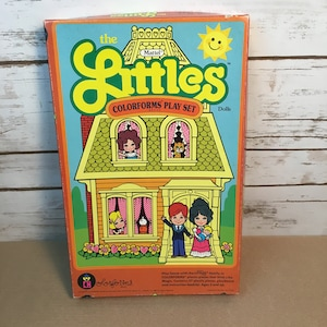The Littles Dolls Family Colorforms Play Set Vintage Mattel 1980