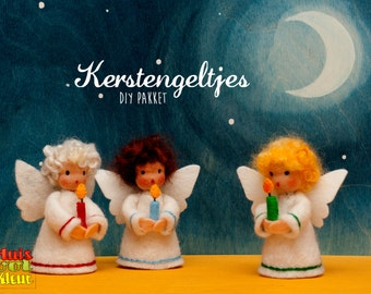 DIY Christmas Angels with candle