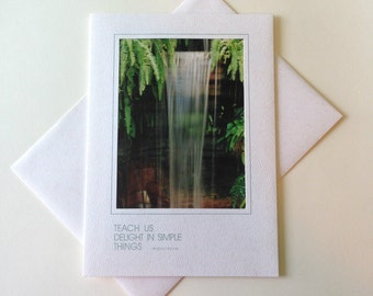 Ferns & Falls Photo Note Card Blank Inside Inspirational Quote