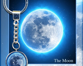 Blue Moon Keychain with photo card