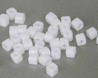 Toho 3mm Cube, Opaque White (41), 10 grams