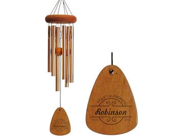 Anniversary Wind Chime, Engraved Wind Chime, Monogrammed, Anniversary Gift, 5 Year Anniversary, 5th Anniversary, Gift for Her, Couple Gift