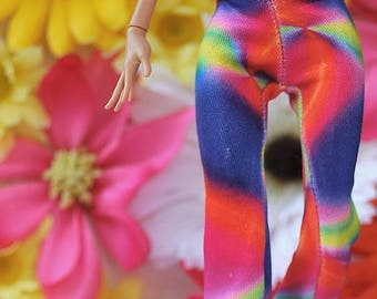 Monster High simple tie-die  bell-bottom pants
