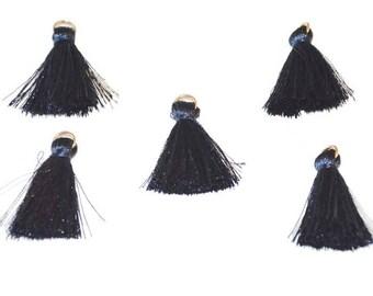 5 charm 3cm cotton dark blue tassels