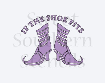 If the Shoe Fits Halloween Stencil