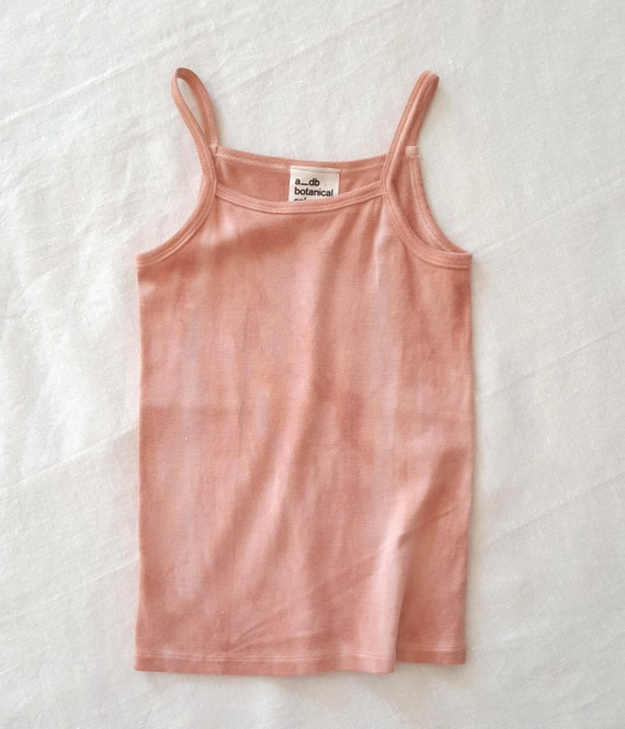 Botanically Dyed Children's Camisole / Kids Tank Top / Eco Fashion / Slow Fashion / Hand Dyed / Botanical Color / Natural Color / Summer