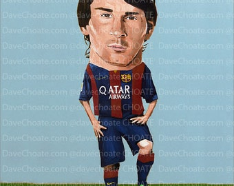 Lionel Messi, FC Barcelona  Art Photo Print