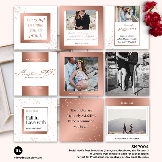 Social Media Post Template For Photographer Facebook - Social media post template