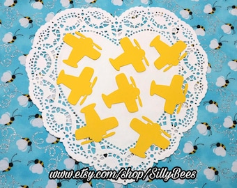 """Airplane Die Cuts Embellishments Confetti: Yellow (Primary Cardstock) 2.31"""" x 2.4"""""""
