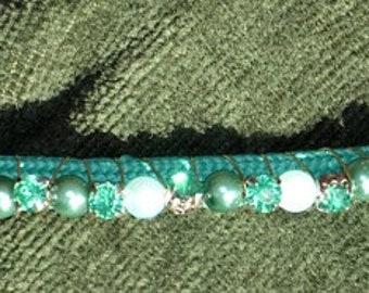 Green Beaded headband