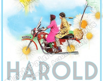 "Harold and Maude (Alternative Watercolor) Movie Poster Print 24""x36"" - Free Shipping in U.S."