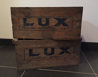 LUX old wooden crate