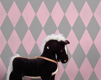 Wall Stencil Large Harlequin Stencil for a Modern Wallpaper Look