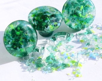 beach glass Cabinet Hardware knobs, handles & drawer pulls for kitchen bathroom furniture sea green unique colorful decorative hardware art