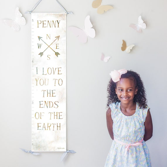 I Love You To the Ends of the Earth canvas growth chart