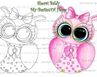 INSTANT DOWMLOAD Digital Digi Stamps Big Eye Big Head Dolls Digi  My Besties Bestie Oh Hope Owl Img915 By Sherri Baldy