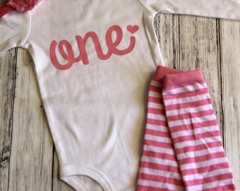 First Birthday Onesie, Baby Girl 1st Birthday Outfit, One Onesie, First Birthday Girl, Birthday Onesie, One Onesie Girl, Pink Birthday