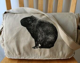Capybara Canvas Messenger Bag