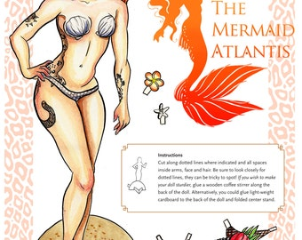 Custom Mermaid Paper Doll