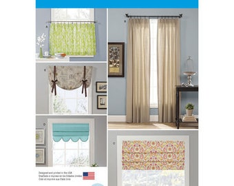 Simplicity 1176 OS Window Treatments Curtains And Valances Sewing Patterns