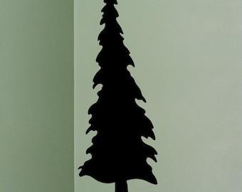 Pine Tree Vinyl Decal 5' high evergreen tree woodland sticker