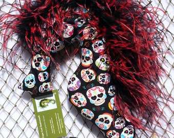 sugar skull Halloween mobile gift decor decoration ostrich feathers party favor hostess gift decorative pillow