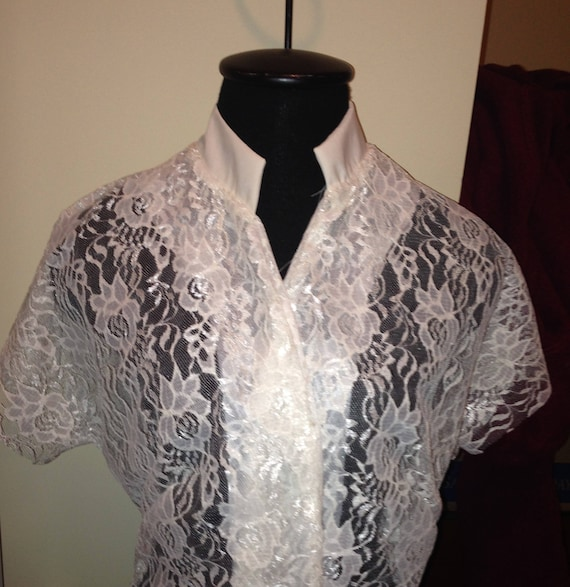 Custom 1950s Vintage Look Lace Tunic