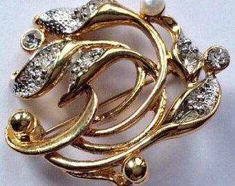 Vintage Movitex Brooch, Vintage Brooch, Vintage Jewellery, Movitex Brooch, Vintage Pin, Goldtone Brooch, Vintage Jewelry, Vintage Pin