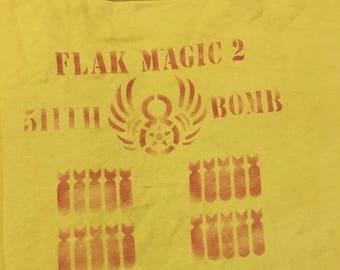 Vintage Rare Buzz Rickson Army Air Force Fight Flak Magic 2 Bomb Sweatshirt