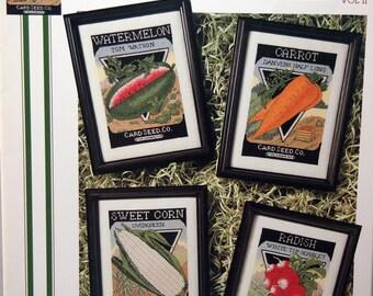 Vintage Seed Packets Vol II Leaflet 39 By June Grigg Designs, Inc. Vintage Cross Stitch Pattern Leaflet 1994