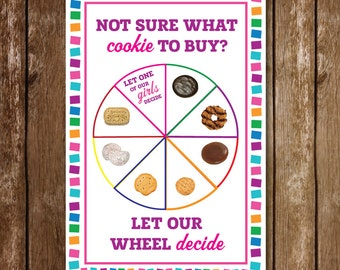 11 x 17 Girl Scouts Cookie Game Spinning | Printable | Scouting | LBB