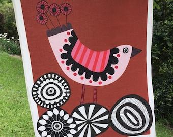 Printed tea towel Graphic Birds Collection 4