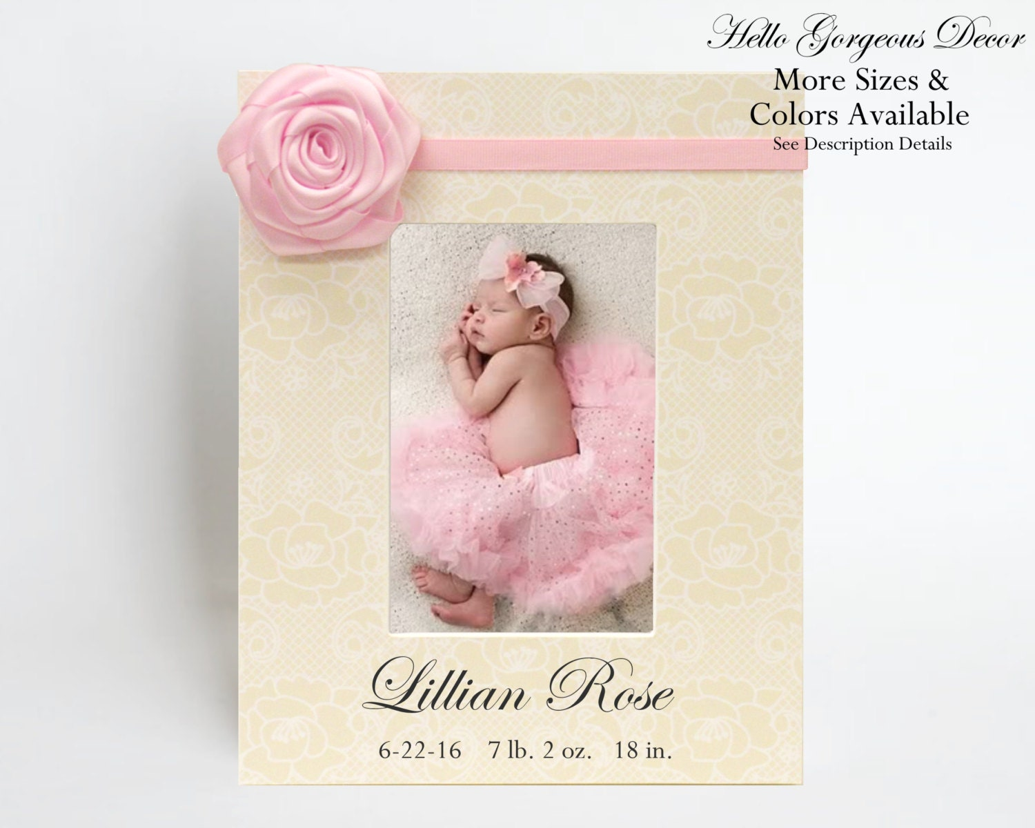 Baby gift personalized picture frame gift to newborn new baby new baby gift personalized picture frame gift to newborn new baby new parents present baby girl photo frame keepsake custom nursery decor ideas negle Image collections