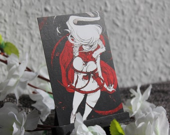 ACEO #01 Red Snow Queen
