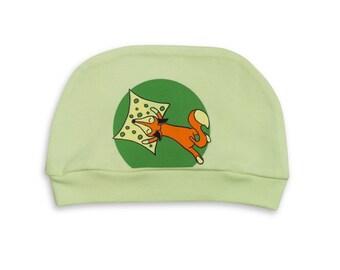 Baby hat organic cotton, Newborn hat bio cotton, Eco-friendly baby hat ,baby shower gift, newborn gift, organic cotton sleep hat, green