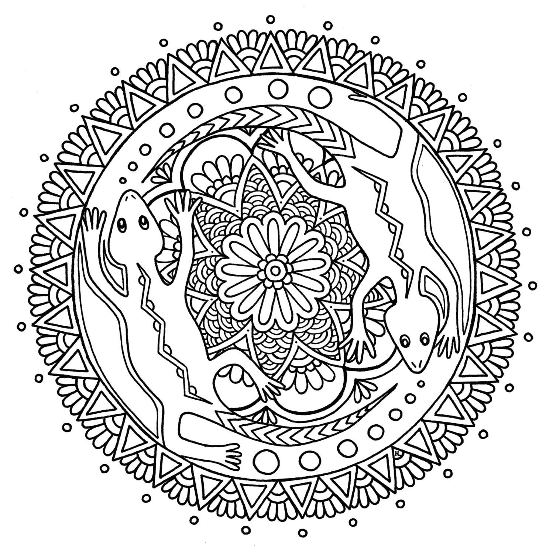 Lagarto Mandala Digital Descargar página para colorear
