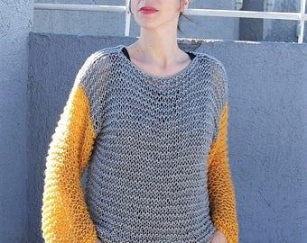 wool sweater, loose knit sweater