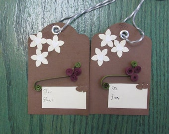 Red Flower Tags