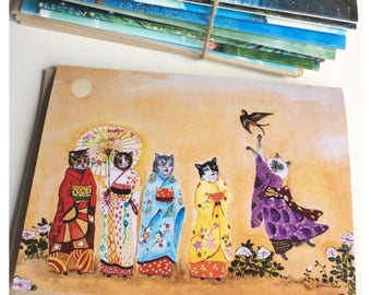 YOU CHOOSE 12 CARDS /  animal cards / all occasion cards / wedding cards / thank you cards / birthday cards / whimsical art cards / woodland