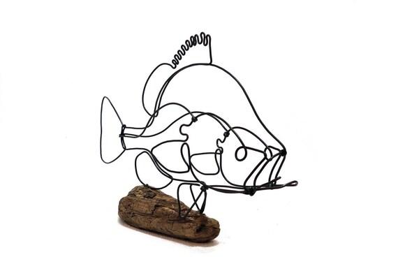 Mondfisch Draht Skulptur Fisch Draht Kunst Fisch 573494775