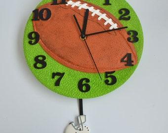 Pendulum Round Modern Wall Clocks Football Shaped