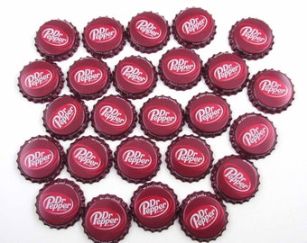 Dr. Pepper Maroon Red and White Bottle Caps Set of 25
