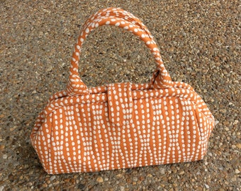Orange Sherbet Dotted Doctor Bag