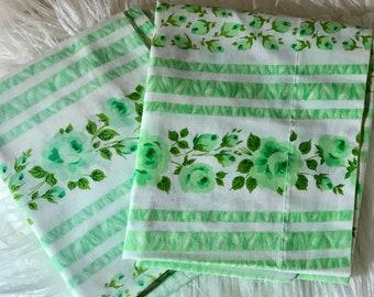 2 Vintage Floral  Pillowcases