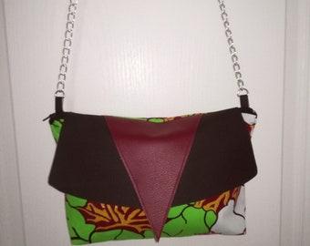 Handbag in imitation leather and wax