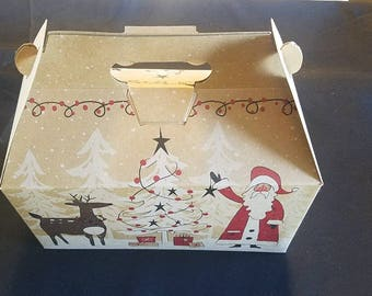 Christmas Candle Filled Gift Box