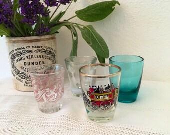 Vintage shot glasses x 4.